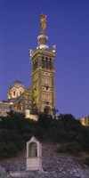 Low angle view of a tower of a church, Notre Dame De La Garde, Marseille, France Fine Art Print