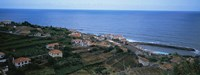 """High angle view of houses at a coast, Ponta Delgada, Madeira, Portugal by Panoramic Images - 27"""" x 9"""", FulcrumGallery.com brand"""