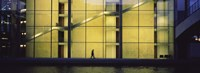 """Silhouette of a person walking in front of a building, Paul Lobe Haus, Berlin, Germany by Panoramic Images - 27"""" x 9"""""""