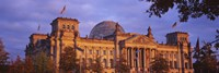 """Facade of a building, The Reichstag, Berlin, Germany by Panoramic Images - 27"""" x 9"""""""