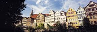 "Low angle view of row houses in a town, Tuebingen, Baden-Wurttembery, Germany by Panoramic Images - 27"" x 9"""