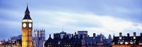 """Buildings in a city, Big Ben, Houses Of Parliament, Westminster, London, England by Panoramic Images - 27"""" x 9"""""""