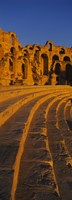 """Old ruins of an amphitheater, Roman Theater, El Djem, Mahdia Governorate, Tunisia by Panoramic Images - 9"""" x 27"""""""