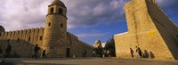 """Group of people at a mosque, Great Mosque, Medina, Sousse, Tunisia by Panoramic Images - 27"""" x 9"""""""