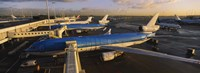 """High angle view of airplanes at an airport, Amsterdam Schiphol Airport, Amsterdam, Netherlands by Panoramic Images - 27"""" x 9"""""""
