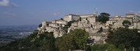"""Houses on the top of a hill, Todi, Perugia, Umbria, Italy by Panoramic Images - 27"""" x 9"""", FulcrumGallery.com brand"""