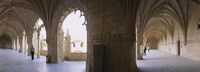 "Tourists at a monastery, Mosteiro dos Jeronimos, Belem, Lisbon, Portugal by Panoramic Images - 27"" x 9"""