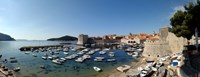 "Boats in the sea, Old City, Dubrovnik, Croatia by Panoramic Images - 27"" x 9"""