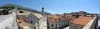 """High angle view of buildings, Minceta Tower, Dubrovnik, Croatia by Panoramic Images - 27"""" x 9"""", FulcrumGallery.com brand"""