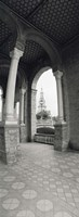 """Interiors of a plaza, Plaza De Espana, Seville, Seville Province, Andalusia, Spain by Panoramic Images - 9"""" x 27"""""""