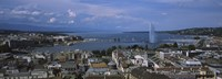 """Buildings in a city, Lake Geneva, Lausanne, Switzerland by Panoramic Images - 27"""" x 9"""""""
