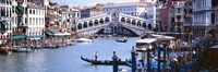 """Bridge across a river, Rialto Bridge, Grand Canal, Venice, Italy by Panoramic Images - 27"""" x 9"""""""