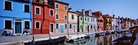 """Houses at the waterfront, Burano, Venetian Lagoon, Venice, Italy by Panoramic Images - 27"""" x 9"""", FulcrumGallery.com brand"""