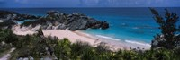 High angle view of a beach, Bermuda Fine Art Print