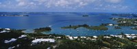 """High angle view of buildings at the waterfront, Gibbs Hill Lighthouse, Bermuda by Panoramic Images - 27"""" x 9"""""""