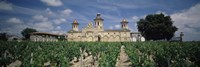 "Vineyard in front of a castle, Chateau Cos d'Estournel, Saint-Estephe, Bordeaux, Gironde, Graves, France by Panoramic Images - 27"" x 9"""