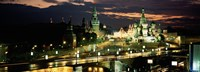 """Red Square at night, Kremlin, Moscow, Russia by Panoramic Images - 27"""" x 10"""""""