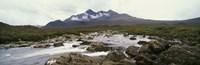 "River Sligachan, distant mountain in mist, Glen Sligachan, Isle of Skye, Scotland. by Panoramic Images - 27"" x 9"""