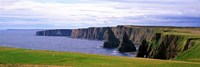 """Seascape with coastal cliffs, Ireland. by Panoramic Images - 27"""" x 9"""""""