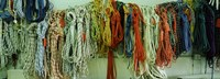 """Colorful braided ropes for sailing in a store by Panoramic Images - 27"""" x 9"""""""