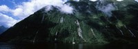 """Low angle view of a mountain, Milford Sound, Fiordland, South Island, New Zealand by Panoramic Images - 27"""" x 9"""""""