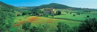 "High angle view of a church on a field, Abbazia Di Sant'antimo, Montalcino, Tuscany, Italy by Panoramic Images - 27"" x 9"""