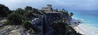 """Castle on a cliff, El Castillo, Tulum, Yucatan, Mexico by Panoramic Images - 27"""" x 9"""""""