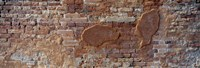"""Close-up of a brick wall, Venice, Veneto, Italy by Panoramic Images - 27"""" x 9"""""""