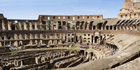 """Interiors of an amphitheater, Coliseum, Rome, Lazio, Italy by Panoramic Images - 27"""" x 9"""""""