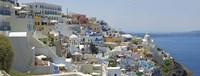"""Houses in a city, Santorini, Cyclades Islands, Greece by Panoramic Images - 27"""" x 9"""", FulcrumGallery.com brand"""