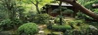 "Temple in a garden, Yuzen-En Garden, Chion-In, Higashiyama Ward, Kyoto, Kyoto Prefecture, Kinki Region, Honshu, Japan by Panoramic Images - 27"" x 9"""