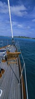 """Chair on a boat deck, Exumas, Bahamas by Panoramic Images - 9"""" x 27"""""""