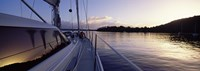 """Sailboat in the sea, Kingdom of Tonga,Vava'u Group of Islands, South Pacific (horizontal) by Panoramic Images - 27"""" x 9"""""""