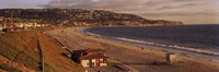 High angle view of a coastline, Redondo Beach, Los Angeles County, California, USA Fine Art Print