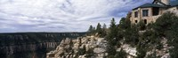 "Low angle view of a building, Grand Canyon Lodge, Bright Angel Point, North Rim, Grand Canyon National Park, Arizona, USA by Panoramic Images - 27"" x 9"""