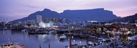 """Boats at a harbor, Victoria And Alfred Waterfront, Table Mountain, Cape Town, Western Cape Province, South Africa by Panoramic Images - 27"""" x 9"""""""