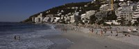 """Tourists on the beach, Clifton Beach, Cape Town, Western Cape Province, South Africa by Panoramic Images - 27"""" x 9"""""""