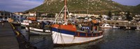 "Fishing boats moored at a harbor, Kalk Bay Harbour, Kalk Bay, False Bay, Cape Town, Western Cape Province, South Africa by Panoramic Images - 27"" x 9"" - $28.99"