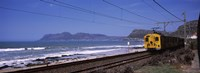 """Train on railroad tracks, False Bay, Cape Town, Western Cape Province, Republic of South Africa by Panoramic Images - 27"""" x 9"""" - $28.99"""