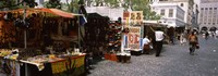 """Flea market at a roadside, Greenmarket Square, Cape Town, Western Cape Province, Republic of South Africa by Panoramic Images - 27"""" x 9"""", FulcrumGallery.com brand"""
