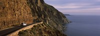 Car on the mountainside road, Mt Chapman's Peak, Cape Town, Western Cape Province, South Africa Fine Art Print