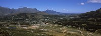 """Aerial view of a valley, Franschhoek Valley, Franschhoek, Simonsberg, Western Cape Province, Republic of South Africa by Panoramic Images - 27"""" x 9"""""""