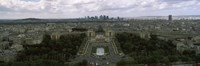 """Cityscape viewed from the Eiffel Tower, Paris, Ile-de-France, France by Panoramic Images - 27"""" x 9"""""""