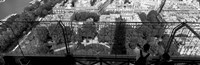 """High angle view of a city, Eiffel Tower, Paris, Ile-de-France, France by Panoramic Images - 27"""" x 9"""""""