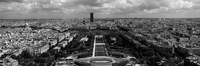 """Aerial view of a city, Eiffel Tower, Paris, Ile-de-France, France by Panoramic Images - 27"""" x 9"""""""
