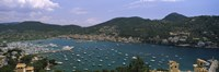 """High angle view of boats at a port, Port D'Andratx, Majorca, Balearic Islands, Spain by Panoramic Images - 27"""" x 9"""""""