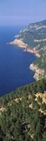"""High angle view of a coastline, Mirador De Ricardo Roca, Serra De Tramuntana, Majorca, Balearic Islands, Spain by Panoramic Images - 9"""" x 27"""""""