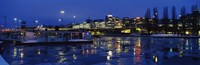 "Stockholm, Sweden at night by Panoramic Images - 27"" x 9"""