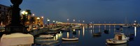 """Boats at a harbor, Bari, Itria Valley, Puglia, Italy by Panoramic Images - 27"""" x 9"""""""