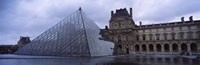 """Pyramid in front of a museum, Louvre Pyramid, Musee Du Louvre, Paris, France by Panoramic Images - 27"""" x 9"""""""